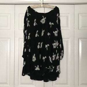 Free People Long Sleeve Embroidered Dress